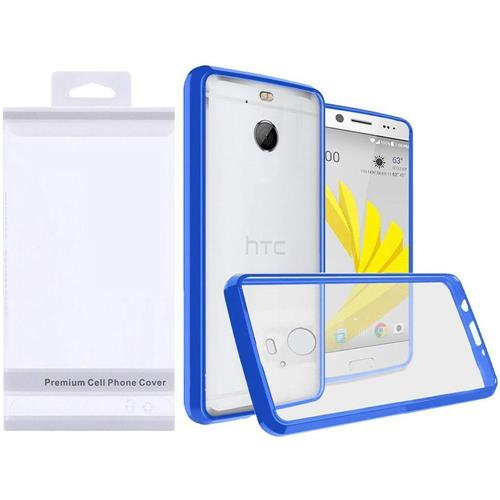 Insten Hard Crystal TPU Case For HTC Bolt - Clear/Blue