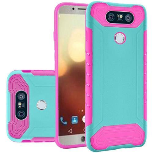 Insten Hard Hybrid TPU Case For LG G6 - Teal/Hot Pink