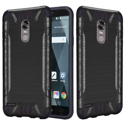 Insten Hard Dual Layer Brushed TPU Case For LG Stylo 3 - Black