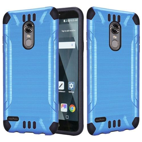 Insten Hard Hybrid Brushed TPU Case For LG Stylo 3 - Blue/Black