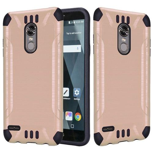 Insten Hard Dual Layer Brushed TPU Case For LG Stylo 3 - Rose Gold/Black