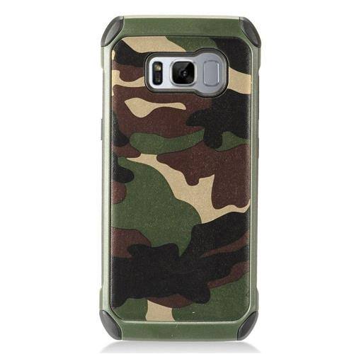 Insten Camouflage Hard Dual Layer TPU Case For Samsung Galaxy S8 Plus - Green/Black