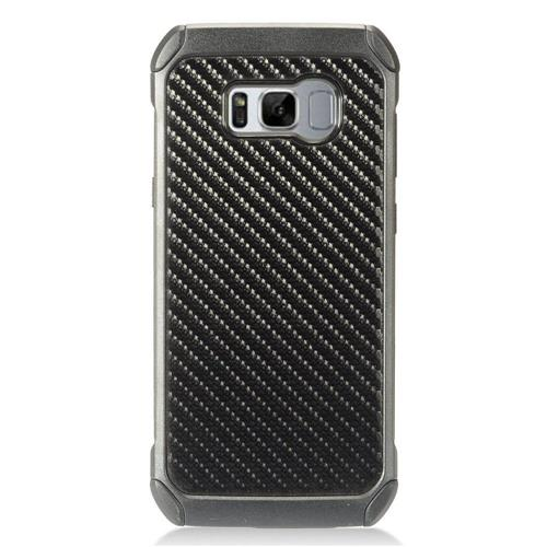 Insten Carbon Fiber Hard Hybrid TPU Case For Samsung Galaxy S8 Plus - Black