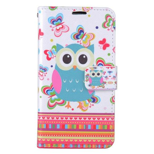 Insten Owl Folio Leather Fabric Case w/stand/card slot For LG Stylo 3