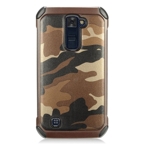 Insten Camouflage Hard Dual Layer TPU Cover Case For LG K10 (2016) - Brown/Black