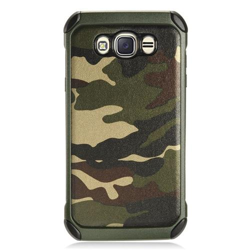 Insten Camouflage Hard Hybrid TPU Case For Samsung Galaxy J7 (2016) - Green/Black