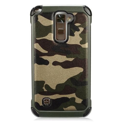 Insten Camouflage Hard Hybrid TPU Case For LG Stylo 2 Plus - Green/Black