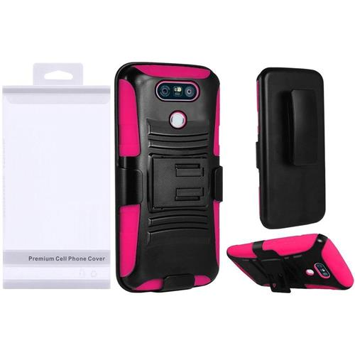 Insten Holster Case for LG G6 - Hot Pink;Black