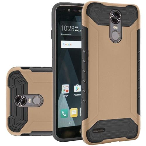 Insten Hard Dual Layer Silicone Case For LG Stylo 3/Stylo 3 Plus - Gold/Black