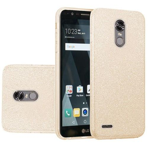 Insten Hard Hybrid Glitter TPU Cover Case For LG Stylo 3/Stylo 3 Plus - Gold