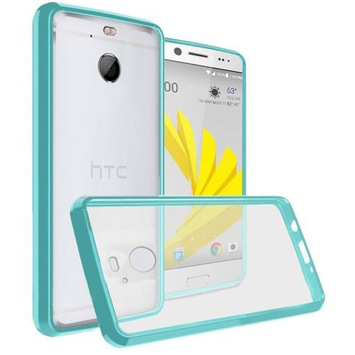 Insten Hard Crystal TPU Case For HTC Bolt - Clear/Teal