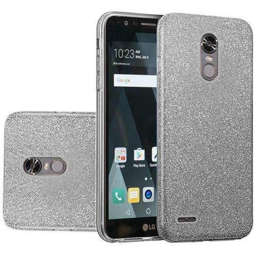 Insten Hard Dual Layer Glitter TPU Cover Case For LG Stylo 3/Stylo 3 Plus - Smoke