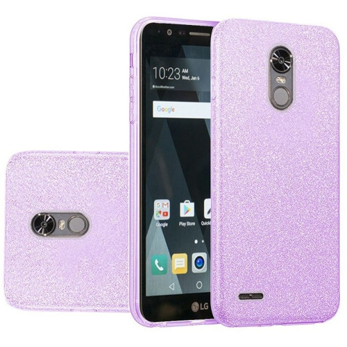 Insten Hard Dual Layer Glitter TPU Cover Case For LG Stylo 3/Stylo 3 Plus - Purple