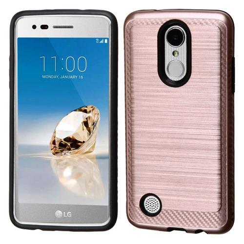 Insten Hard Hybrid TPU Cover Case For LG Aristo/Fortune/K8 (2017)/LV3/Phoenix 3 - Rose Gold/Black