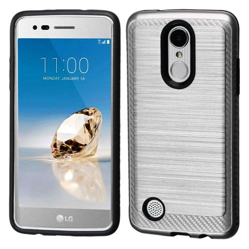 Insten Hard Hybrid TPU Cover Case For LG Aristo/Fortune/K8 (2017)/LV3/Phoenix 3 - Silver/Black
