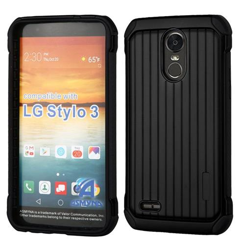 Insten Hard Hybrid TPU Cover Case For LG Stylo 3 - Black
