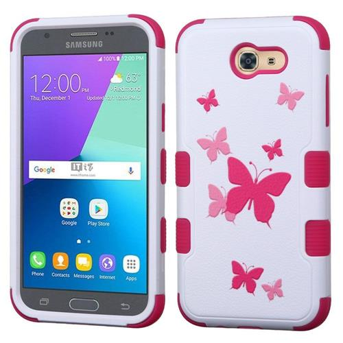 Insten Tuff Butterfly Dancing Hard Cover Case For Samsung Galaxy Express Prime 2/J3 (2017) - Pink