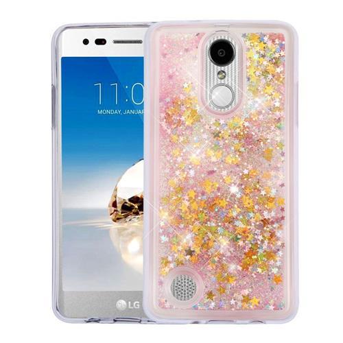 Insten Quicksand Stars Hard Glitter TPU Cover Case For LG Aristo/K8 (2017)/LV3 - Pink