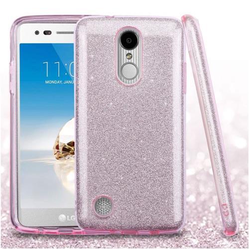 Insten Hard Hybrid Glitter TPU Case For LG Aristo/Fortune/K8 (2017)/LV3/Phoenix 3 - Pink