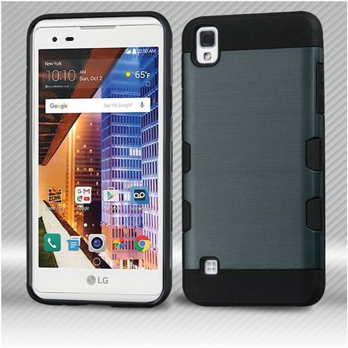Insten Hard Hybrid TPU Cover Case For LG Tribute HD/X STYLE - Blue/Black