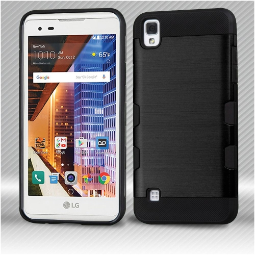 Insten Hard Hybrid TPU Case For LG Tribute HD/X STYLE - Black