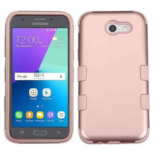 Insten Tuff Hard Dual Layer Silicone Case For Samsung Galaxy J3 (2017) - Rose Gold