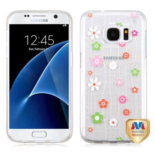Insten Tiny Blossoms Gel Case For Samsung Galaxy S7 - Pink