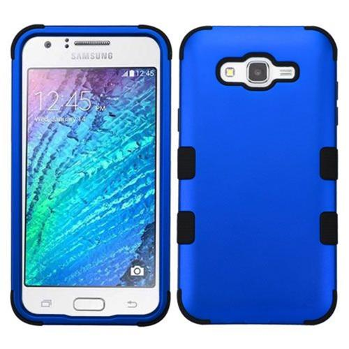 Insten Tuff Hard Hybrid Silicone Case For Samsung Galaxy J7 (2015) - Blue/Black