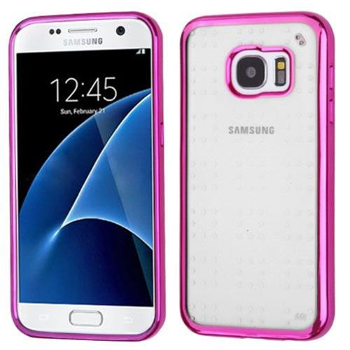 Insten TPU Case For Samsung Galaxy S7 - Clear/Hot Pink