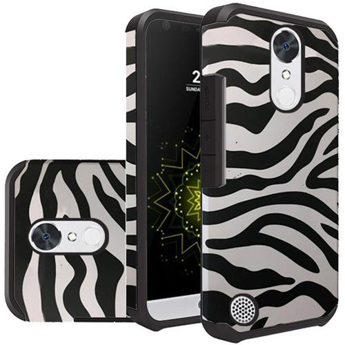 Insten Zebra Hard Hybrid Silicone Case For LG Grace 4G/Harmony/K20 Plus/K20 V, Black/White