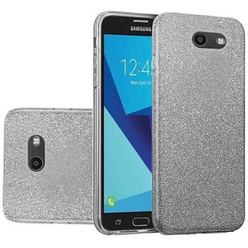 Insten Hard Glitter TPU Case For Samsung Galaxy Halo/J7 (2017)/J7 Perx/J7 Prime, Smoke