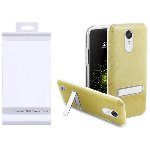 Insten Hard Glitter TPU Case w/stand For LG Grace 4G/Harmony/K20 Plus/K20 V, Gold