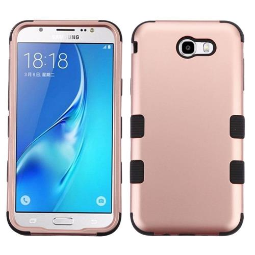 Insten For Samsung Galaxy J7 (2017)/J7 Perx/J7 Sky Pro/J7 V Rose Gold Hard Hybrid Case