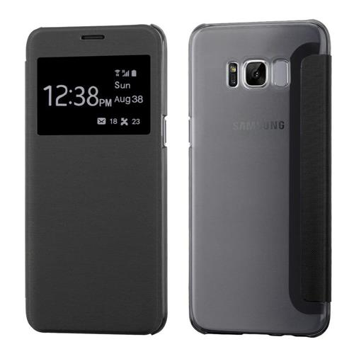 Insten Flip Leather Fabric Case For Samsung Galaxy S8 Plus - Black