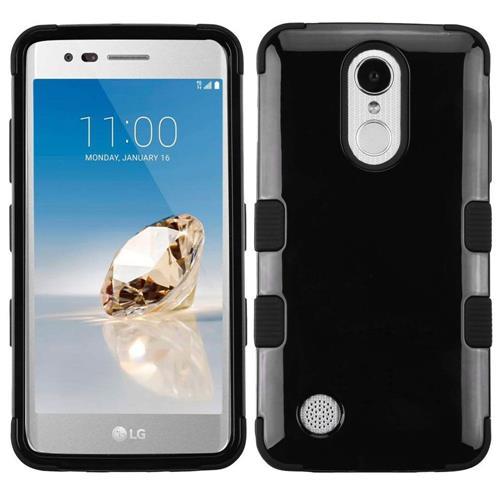 Insten Hard Silicone Cover Case For LG Aristo/Fortune/K4 (2017)/K8 (2017)/Phoenix 3, Black
