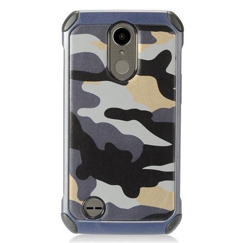 Insten Camouflage Hard Hybrid TPU Cover Case For LG K10 (2017)/K20 Plus/K20 V - Gray/Black