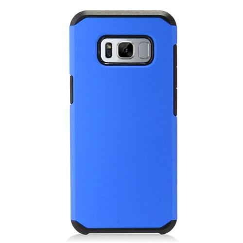 Insten Fitted Soft Shell Case for Samsung Galaxy S8 - Black;Blue