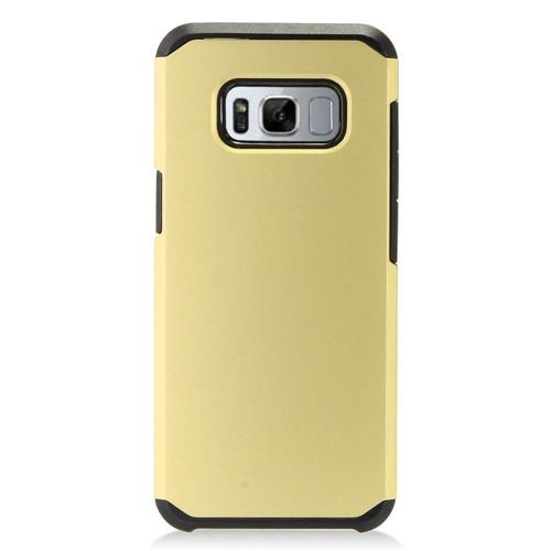 Insten Fitted Soft Shell Case for Samsung Galaxy S8 - Gold;Black