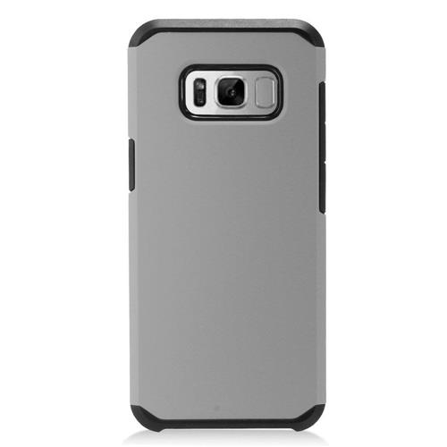Insten Hard Dual Layer TPU Case For Samsung Galaxy S8 - Gray/Black