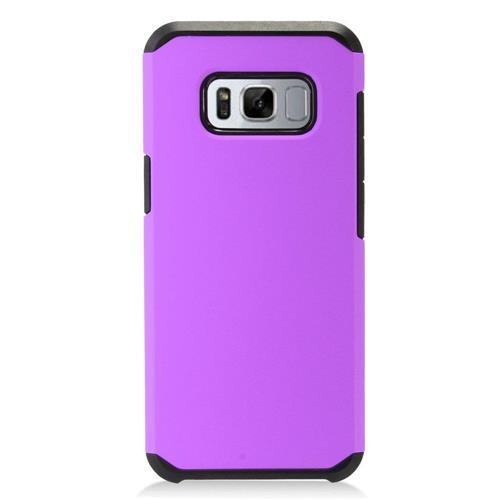 Insten Hard Dual Layer TPU Cover Case For Samsung Galaxy S8 - Purple/Black