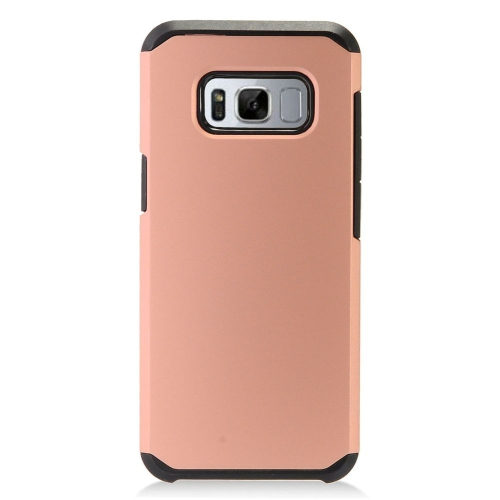Insten Hard Hybrid TPU Cover Case For Samsung Galaxy S8 - Rose Gold/Black