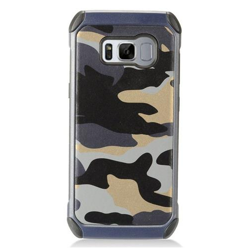 Insten Camouflage Hard Hybrid TPU Cover Case For Samsung Galaxy S8 - Gray/Black