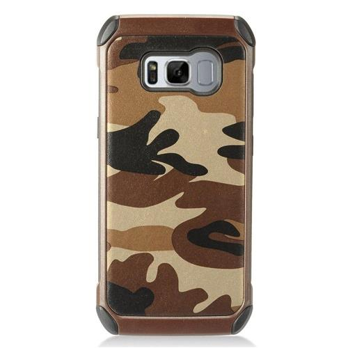 Insten Camouflage Hard Dual Layer TPU Case For Samsung Galaxy S8 - Brown/Black