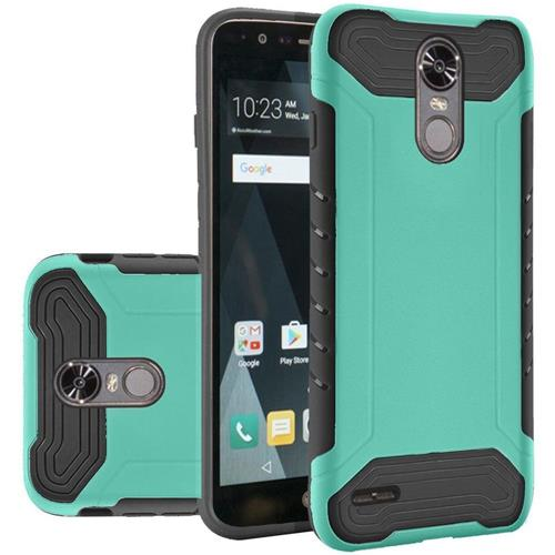 Insten Hard Dual Layer Silicone Cover Case For LG Stylo 3/Stylo 3 Plus - Teal/Black