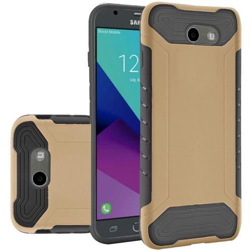 Insten Hard Case For Samsung Galaxy Amp Prime 2/Express Prime 2/J3 (2017)/J3 Eclipse, Gold