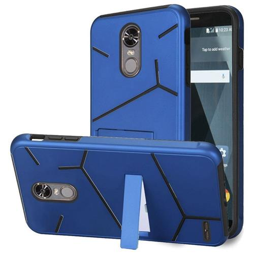 Insten Hard Hybrid TPU Cover Case w/stand For LG Stylo 3/Stylo 3 Plus - Blue/Black