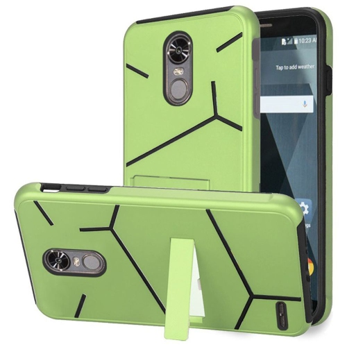 Insten Hard Hybrid TPU Cover Case w/stand For LG Stylo 3/Stylo 3 Plus - Green/Black