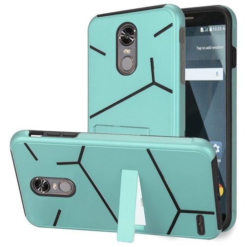 Insten Hard Hybrid TPU Case w/stand For LG Stylo 3/Stylo 3 Plus - Teal/Black