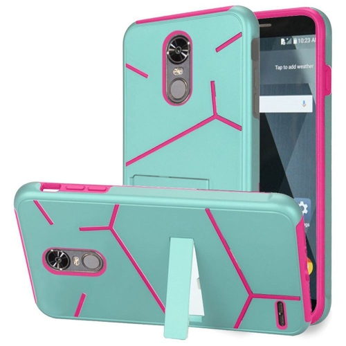 Insten Hard Hybrid TPU Cover Case w/stand For LG Stylo 3/Stylo 3 Plus - Teal/Hot Pink