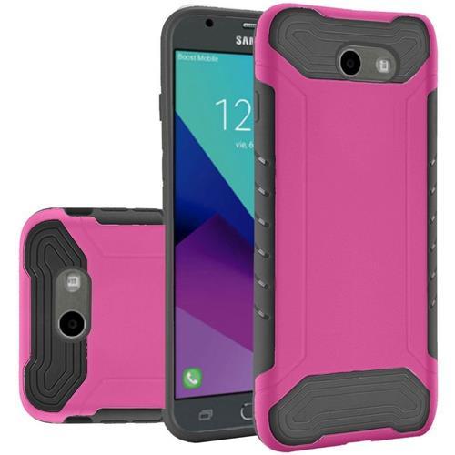 Insten Hard Case For Samsung Galaxy Amp Prime 2/Express Prime 2/J3 (2017)/J3 Eclipse, Hot Pink